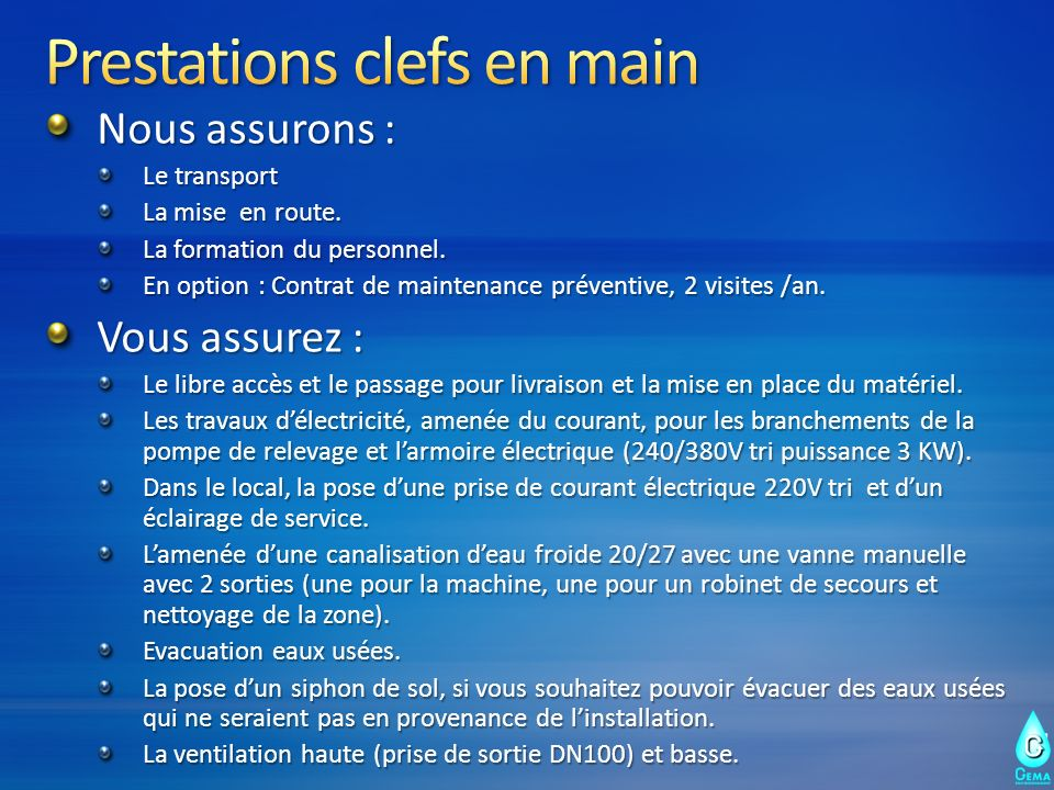 Prestations clefs en main