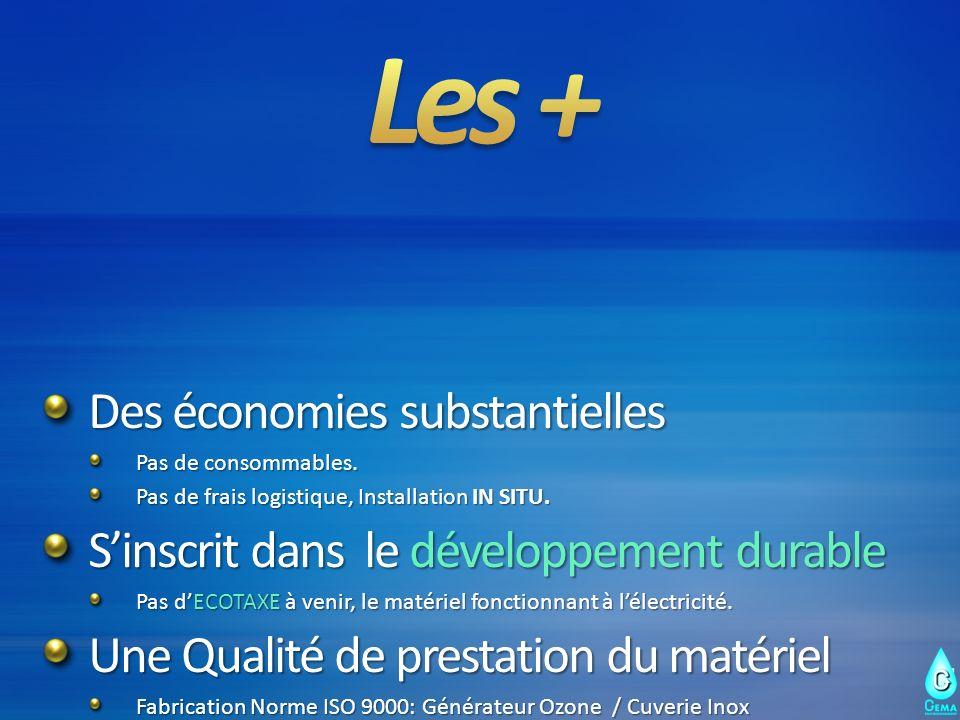 Les + Des économies substantielles
