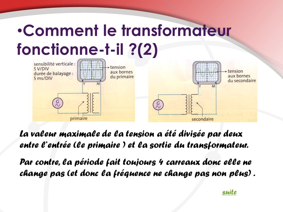 Comment le transformateur fonctionne-t-il (2)