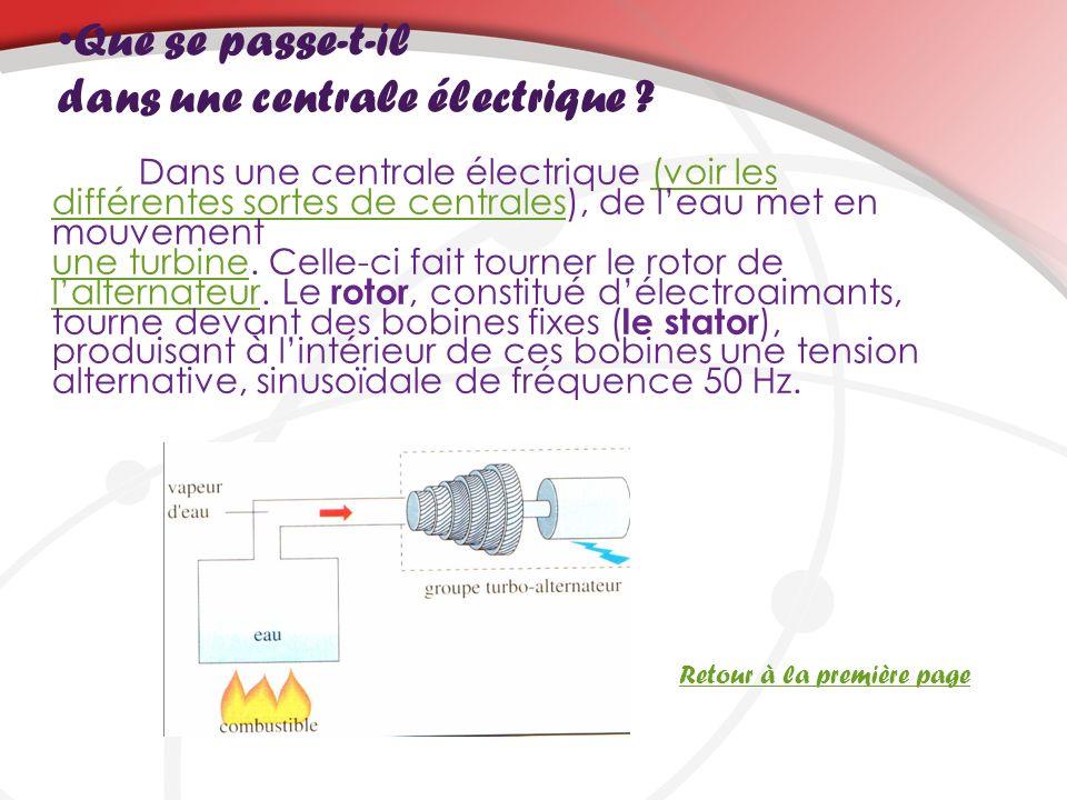 Que se passe-t-il dans une centrale électrique