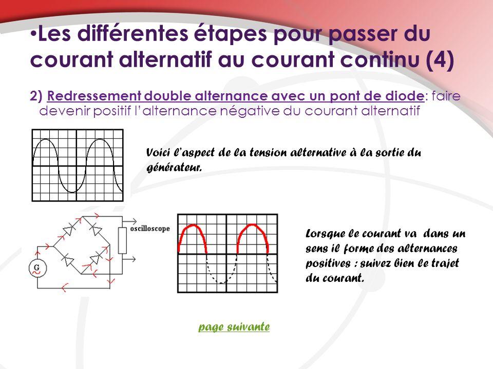 Les différentes étapes pour passer du courant alternatif au courant continu (4)