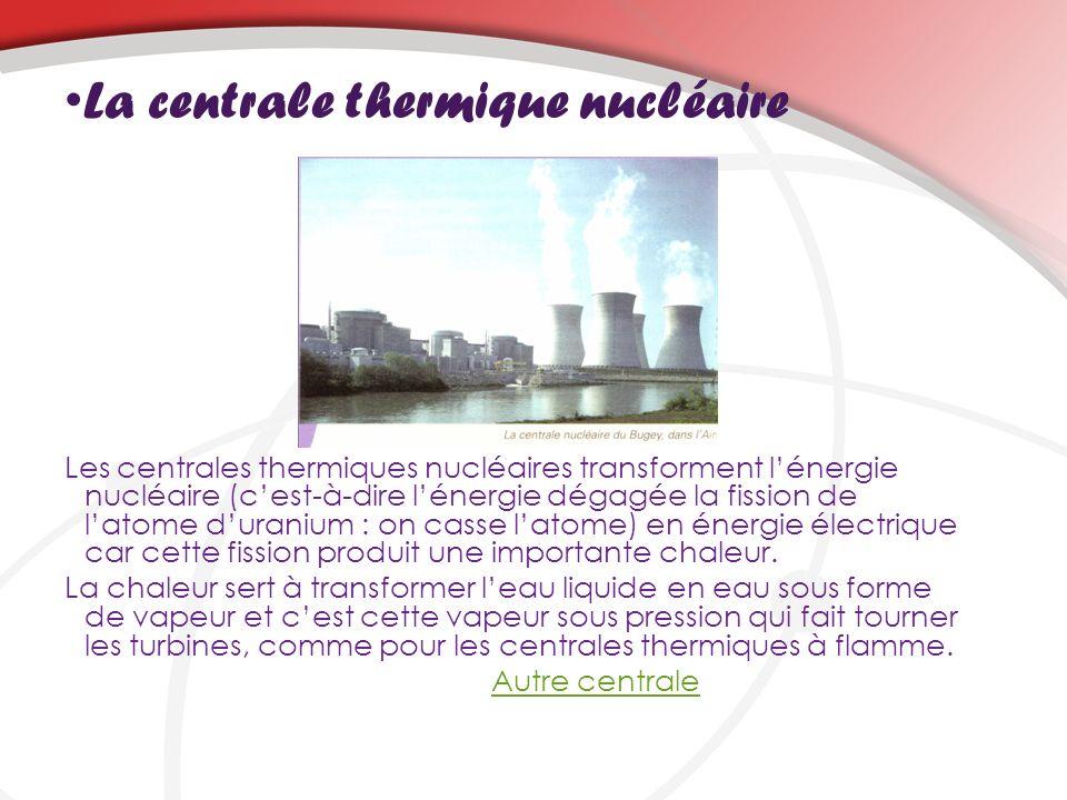 La centrale thermique nucléaire