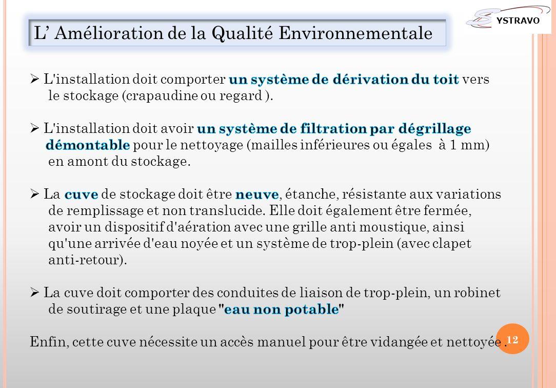 L' Amélioration de la Qualité Environnementale