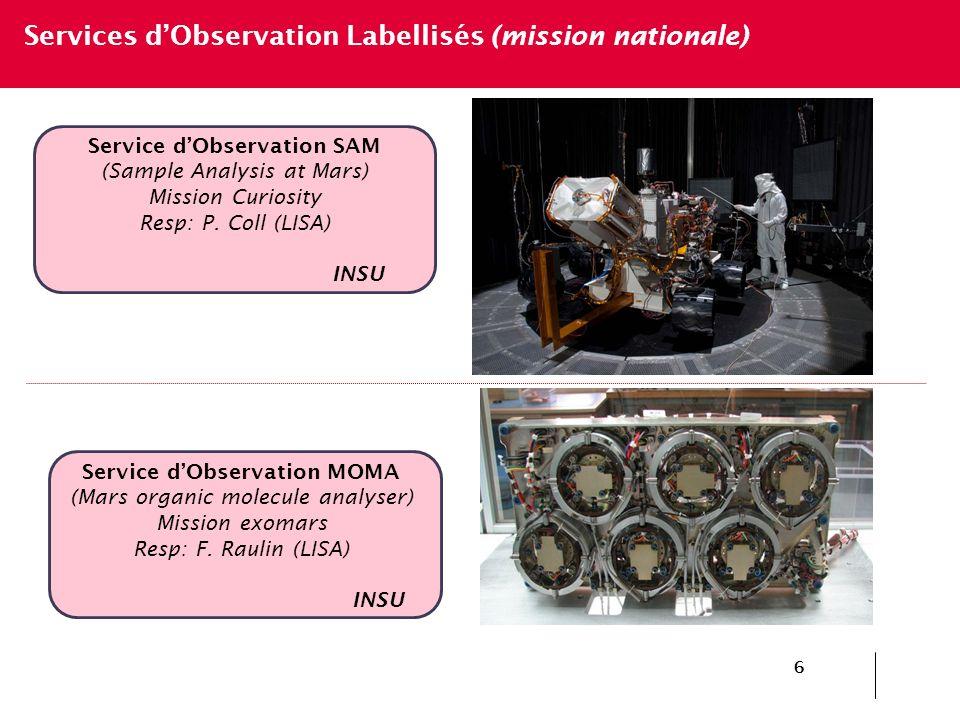 Service d'Observation SAM Service d'Observation MOMA