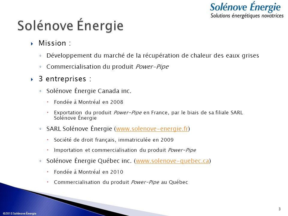 Solénove Énergie Mission : 3 entreprises :