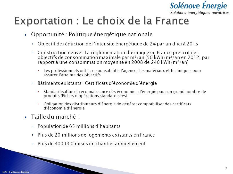 Exportation : Le choix de la France