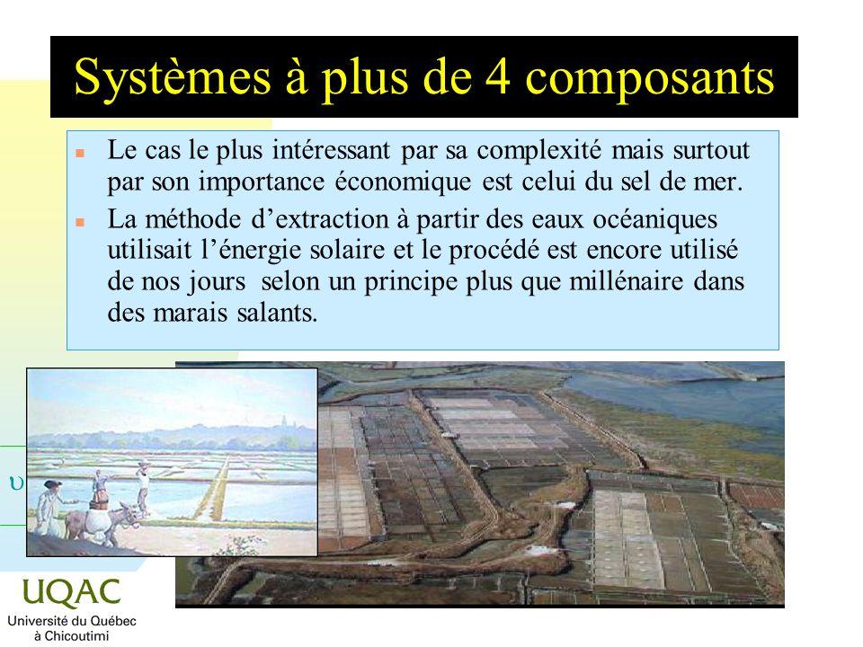 Systèmes à plus de 4 composants