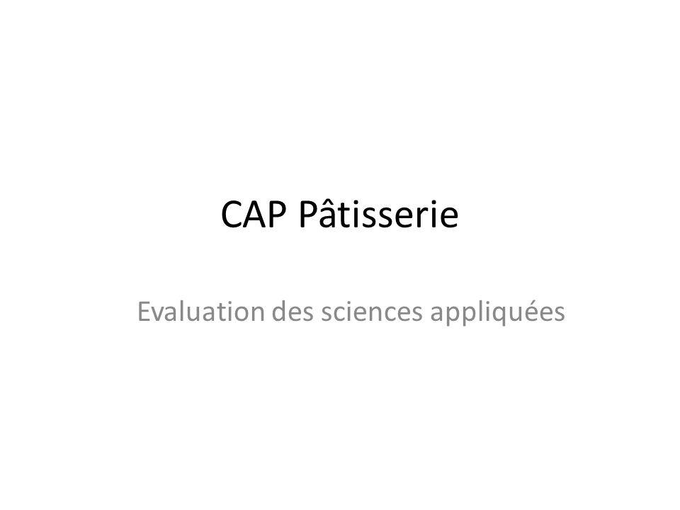 Evaluation des sciences appliquées