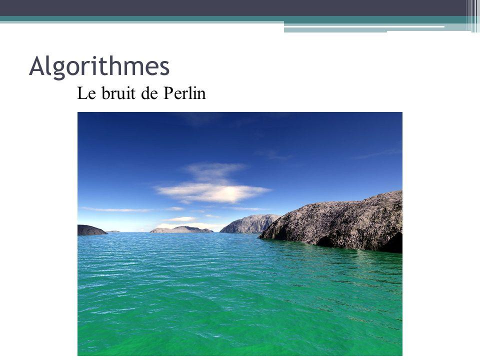 Algorithmes Le bruit de Perlin