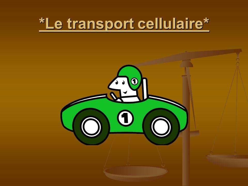 *Le transport cellulaire*