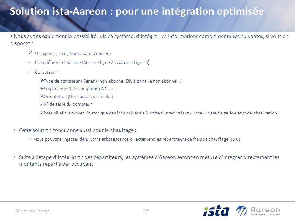 Solution ista-Aareon : pour une intégration optimisée