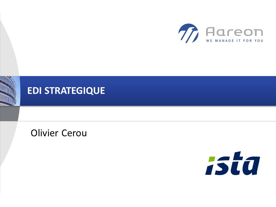 EDI STRATEGIQUE Olivier Cerou