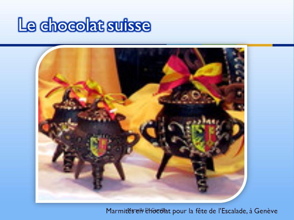 Le chocolat suisse Marsella Di Camillo Marmites en chocolat pour la fête de l Escalade, à Genève