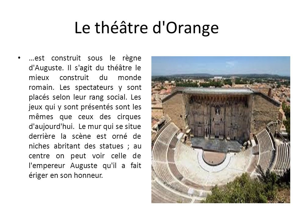 Le théâtre d Orange
