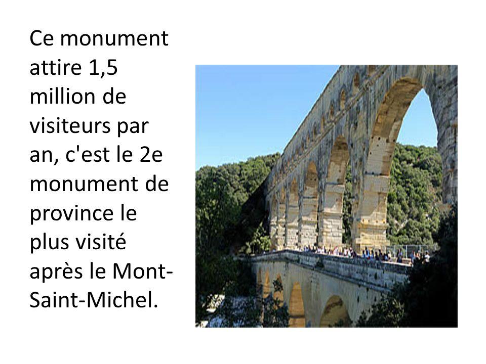 Ce monument attire 1,5 million de visiteurs par an, c est le 2e monument de province le plus visité après le Mont-Saint-Michel.