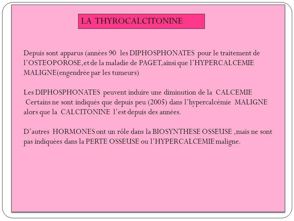LA THYROCALCITONINE