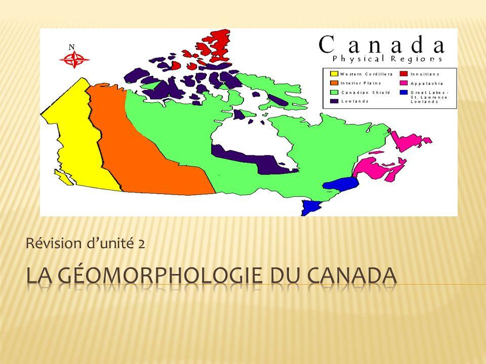 La gÉomorphologie du canada