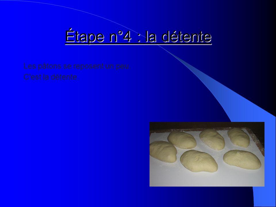 Étape n°4 : la détente Les pâtons se reposent un peu.