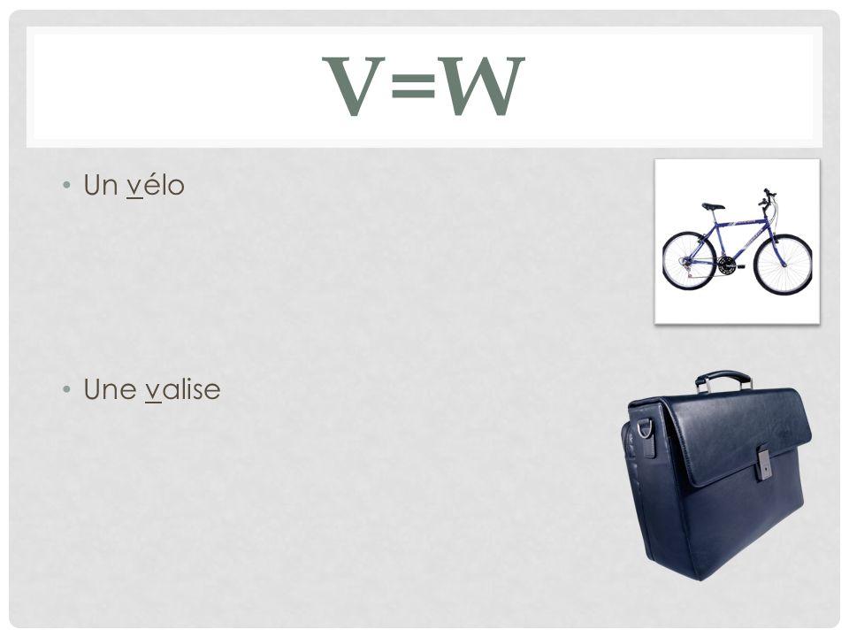 V=w Un vélo Une valise