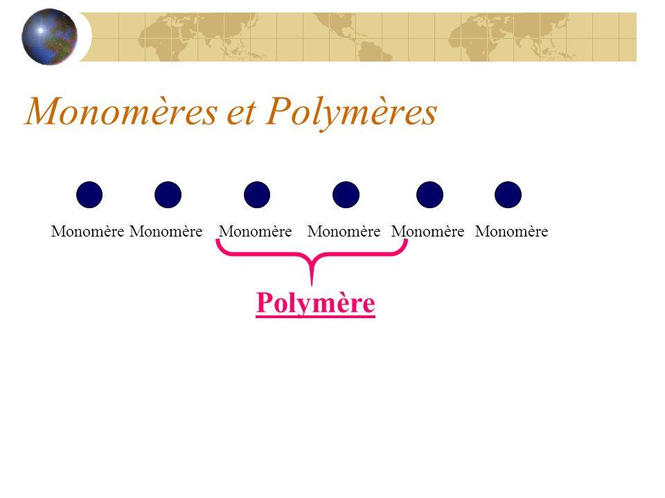 Monomères et Polymères