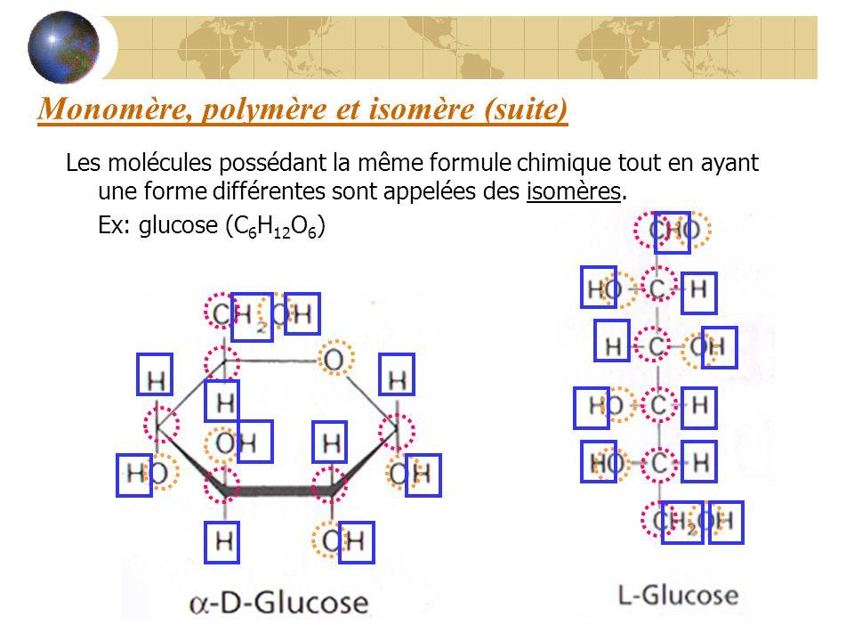 Monomère, polymère et isomère (suite)