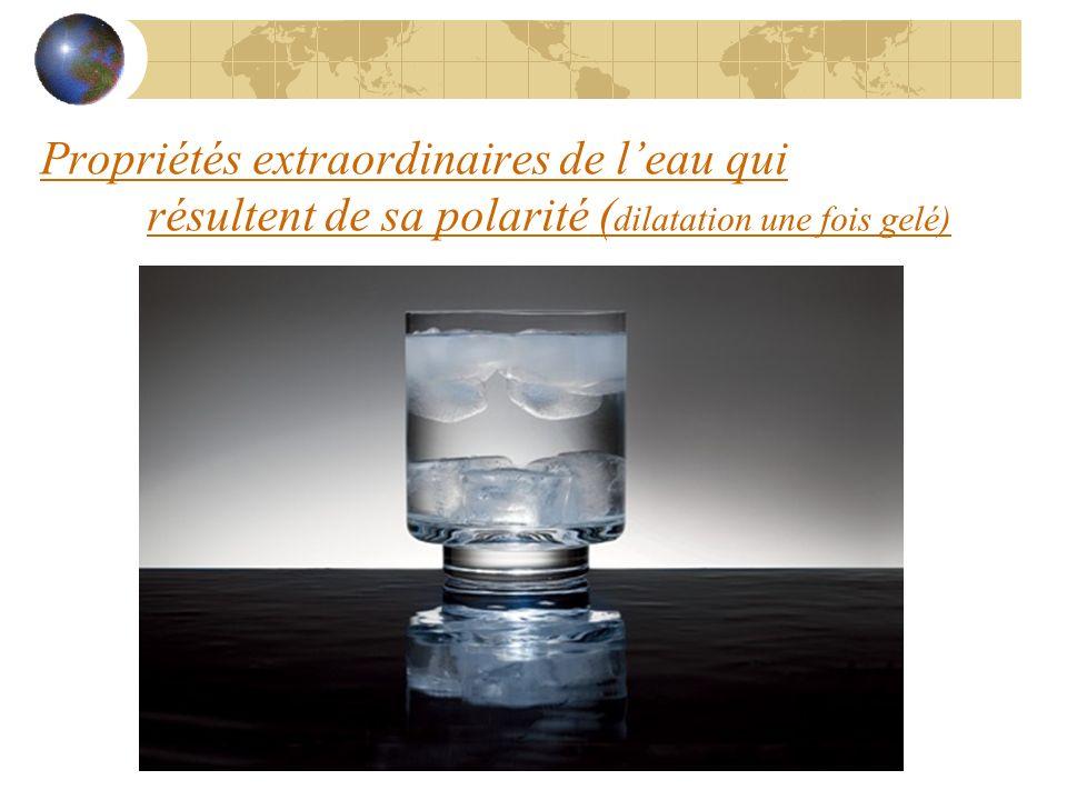 Propriétés extraordinaires de l'eau qui