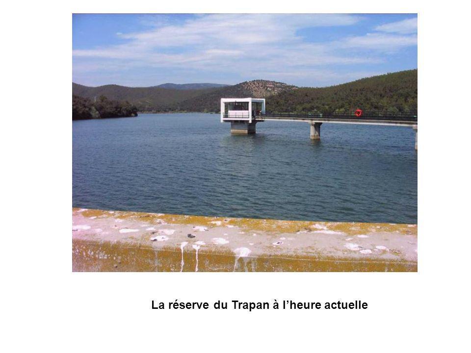 La réserve du Trapan à l'heure actuelle