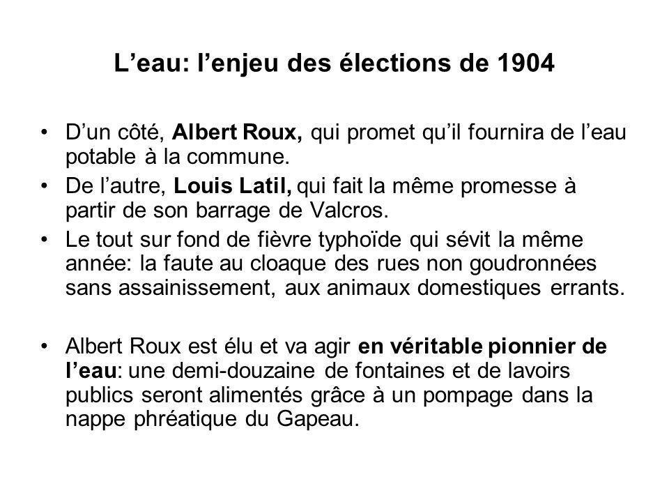 L'eau: l'enjeu des élections de 1904
