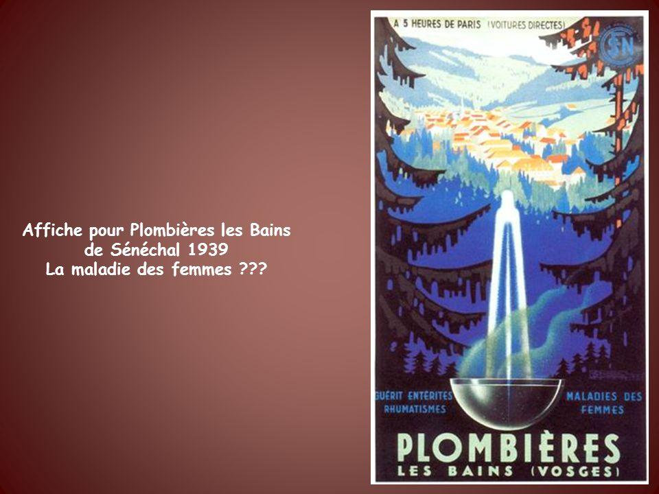 Affiche pour Plombières les Bains de Sénéchal 1939