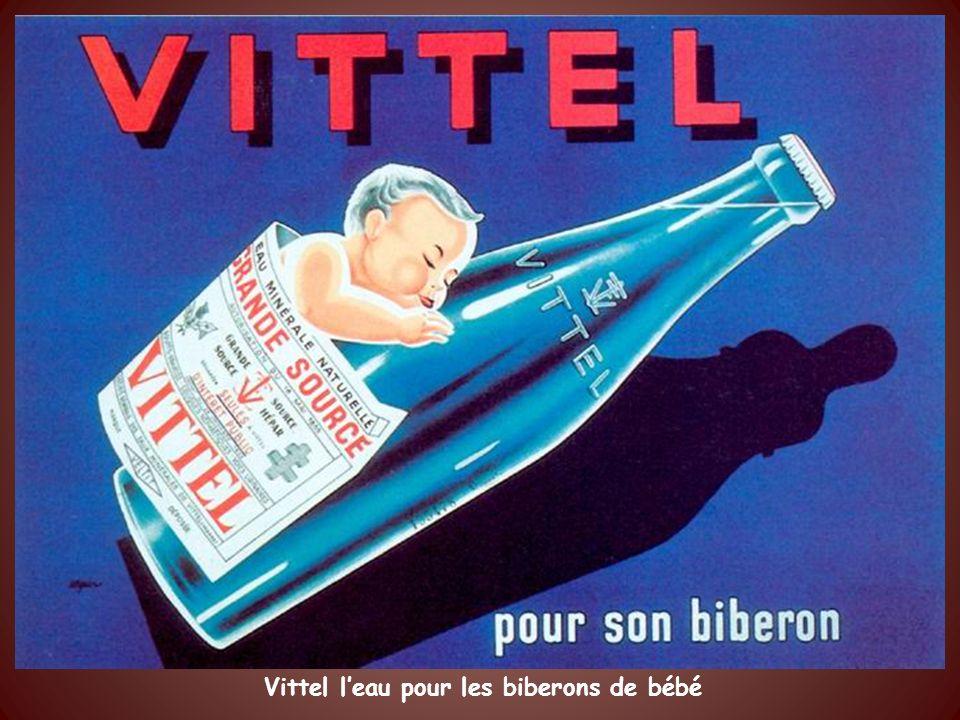 Vittel l'eau pour les biberons de bébé