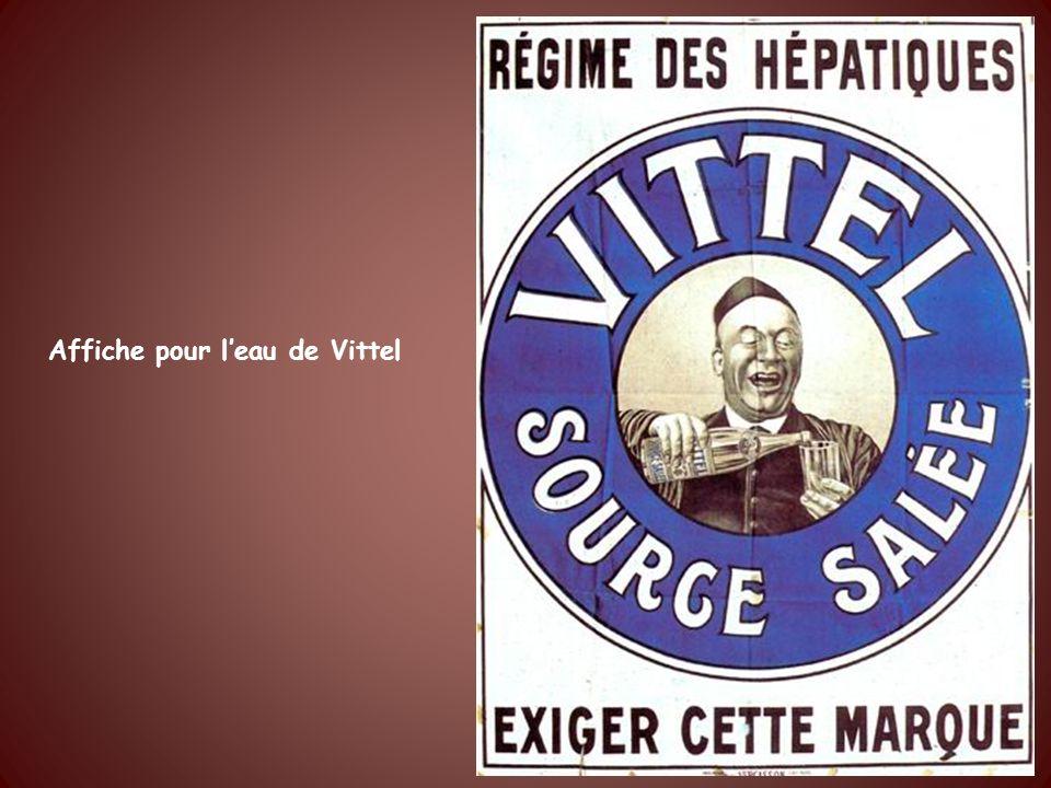 Affiche pour l'eau de Vittel