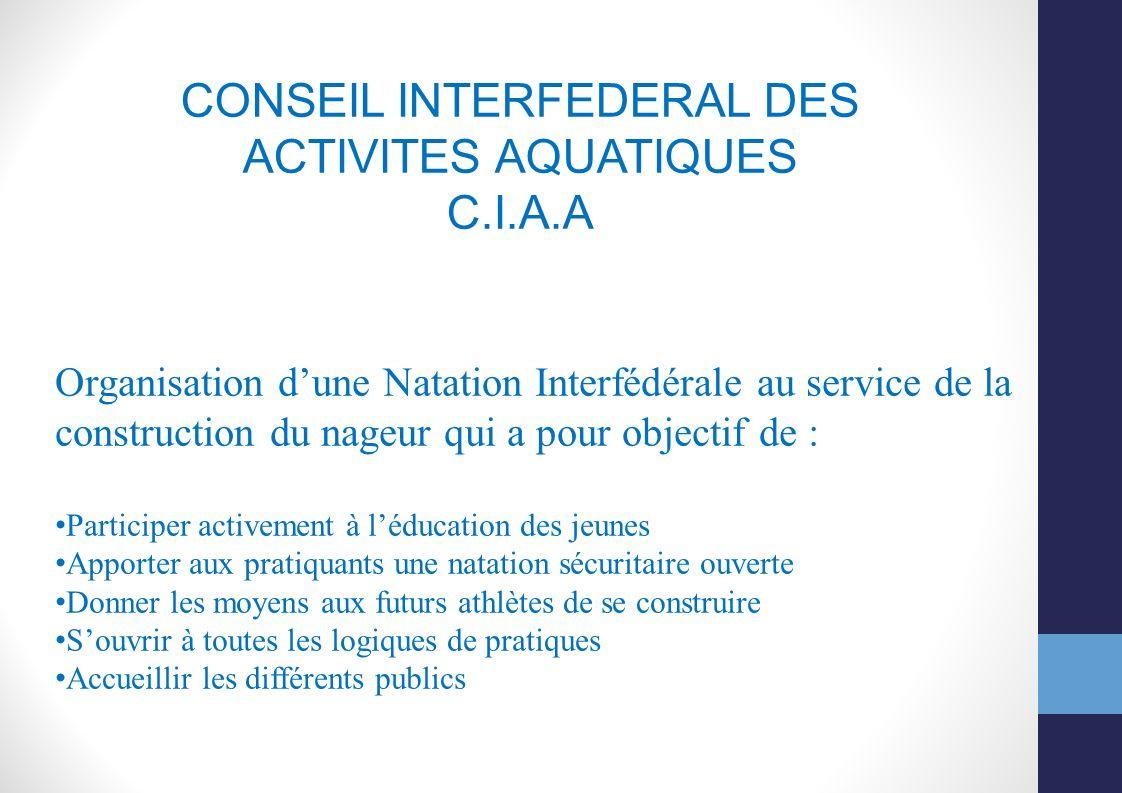 CONSEIL INTERFEDERAL DES ACTIVITES AQUATIQUES
