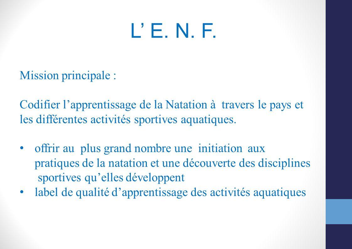 L' E. N. F. Mission principale :