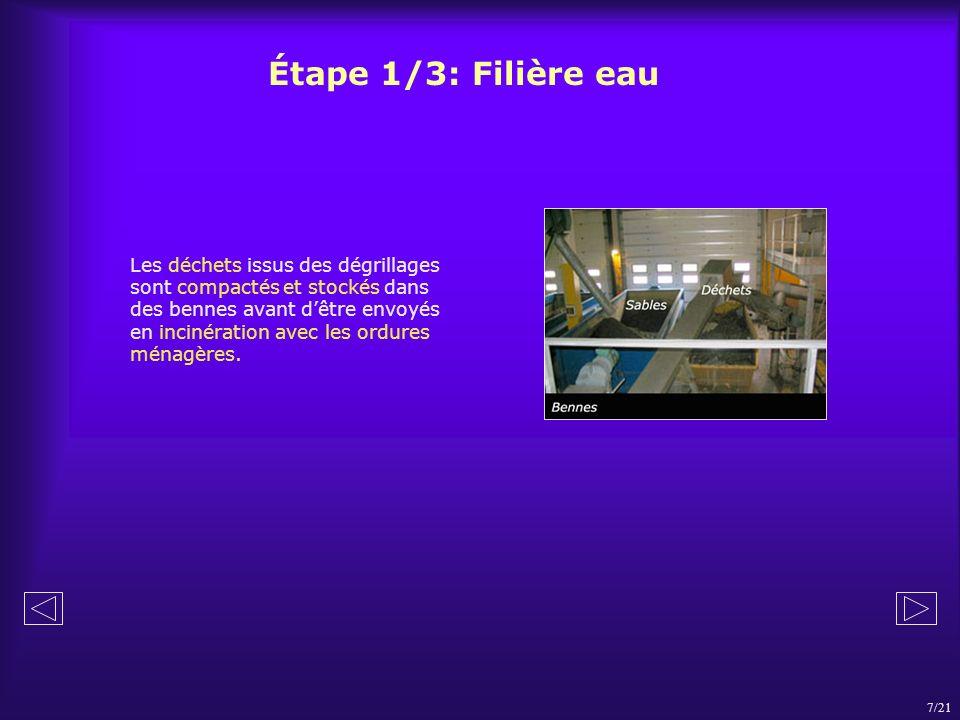 Étape 1/3: Filière eau