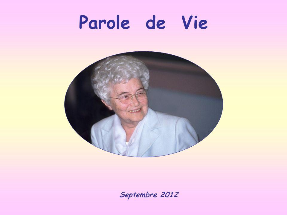 Parole de Vie Septembre 2012