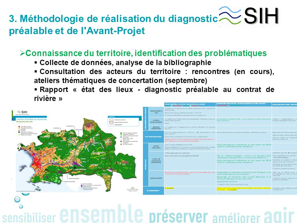 3. Méthodologie de réalisation du diagnostic préalable et de l Avant-Projet