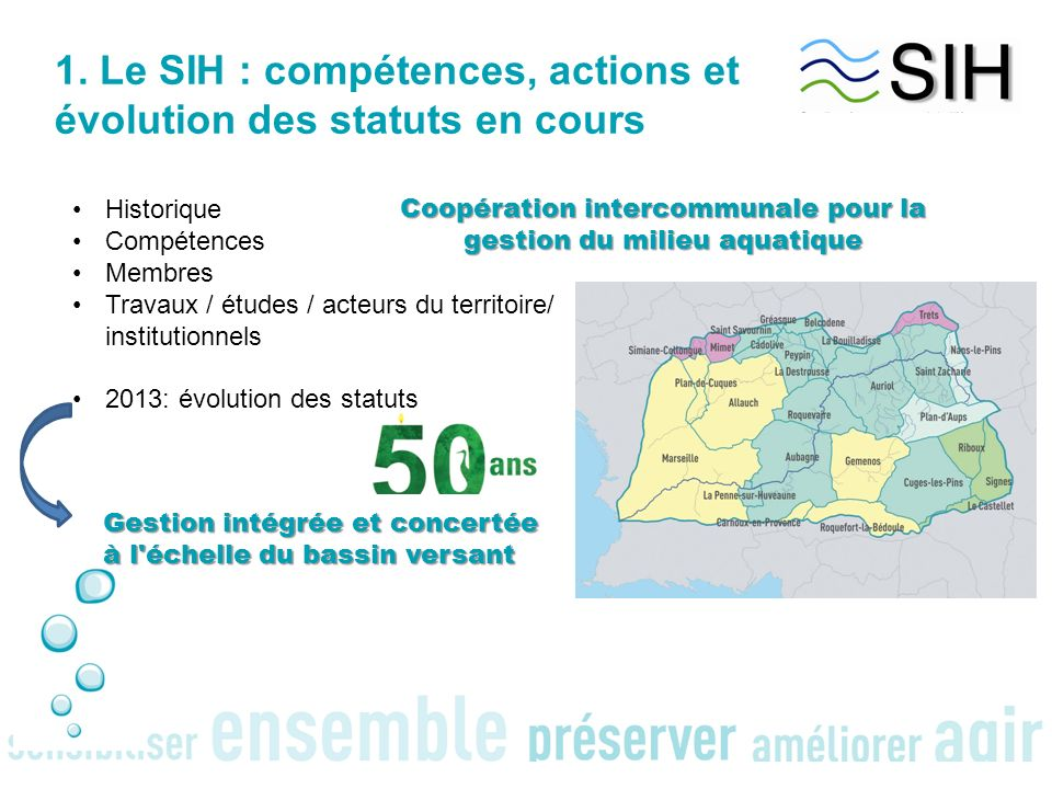 Coopération intercommunale pour la gestion du milieu aquatique