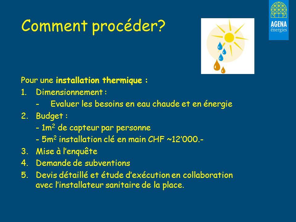 Comment procéder Pour une installation thermique : Dimensionnement :