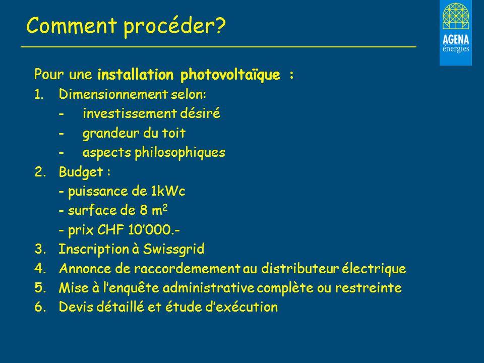 Comment procéder Pour une installation photovoltaïque :