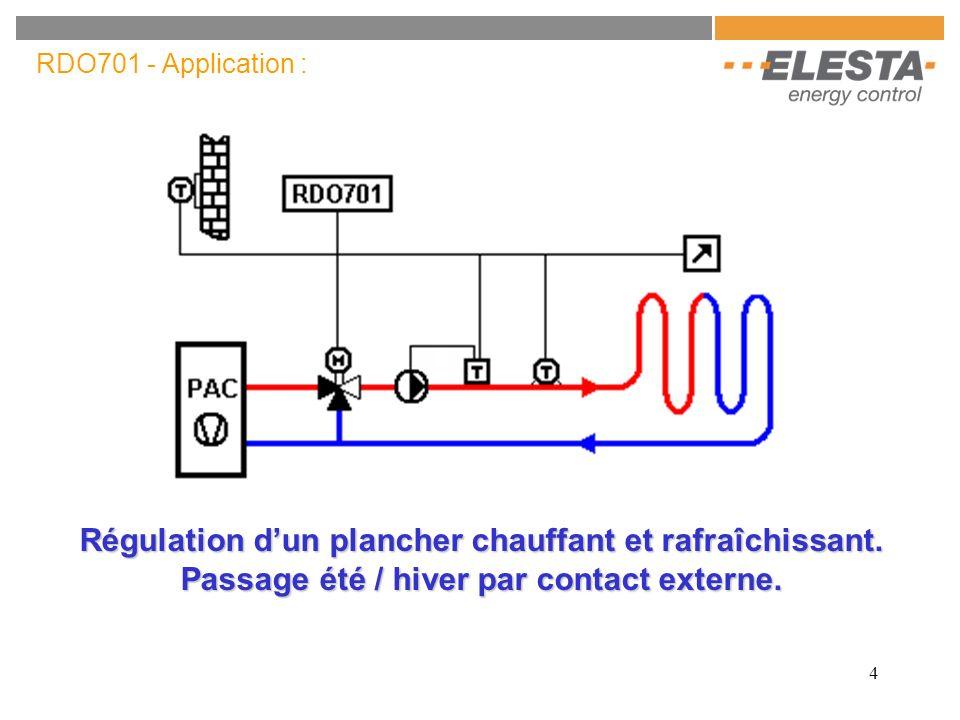 RDO701 - Application : Régulation d'un plancher chauffant et rafraîchissant.