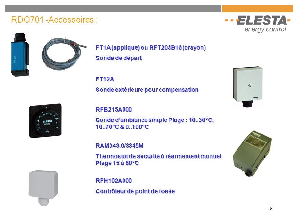 RDO701 -Accessoires : FT1A (applique) ou RFT203B16 (crayon)