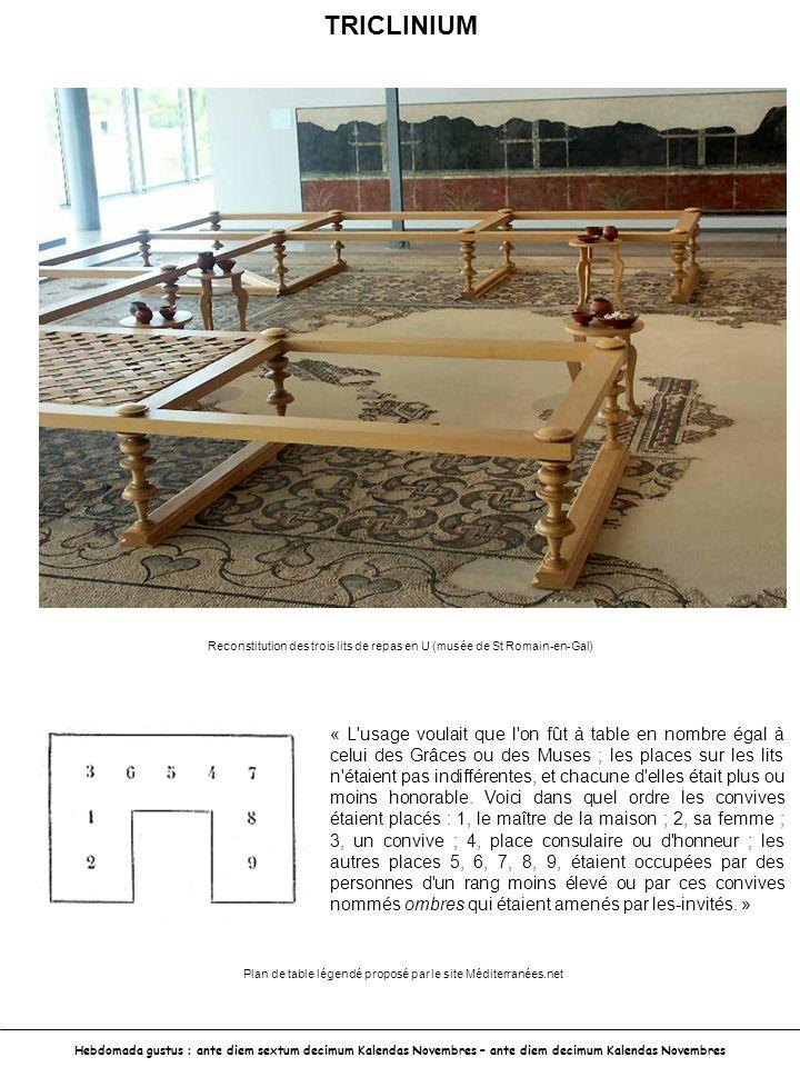 Plan de table légendé proposé par le site Méditerranées.net