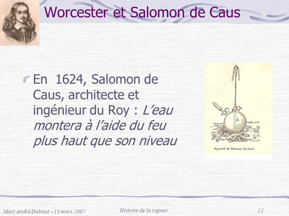 Worcester et Salomon de Caus