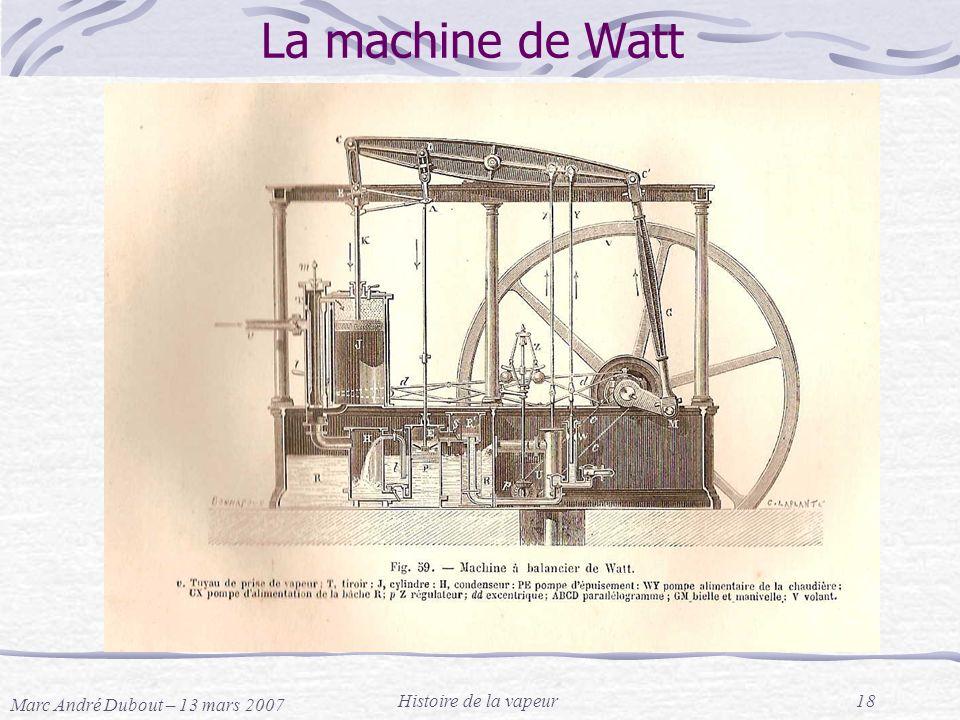 La machine de Watt Histoire de la vapeur