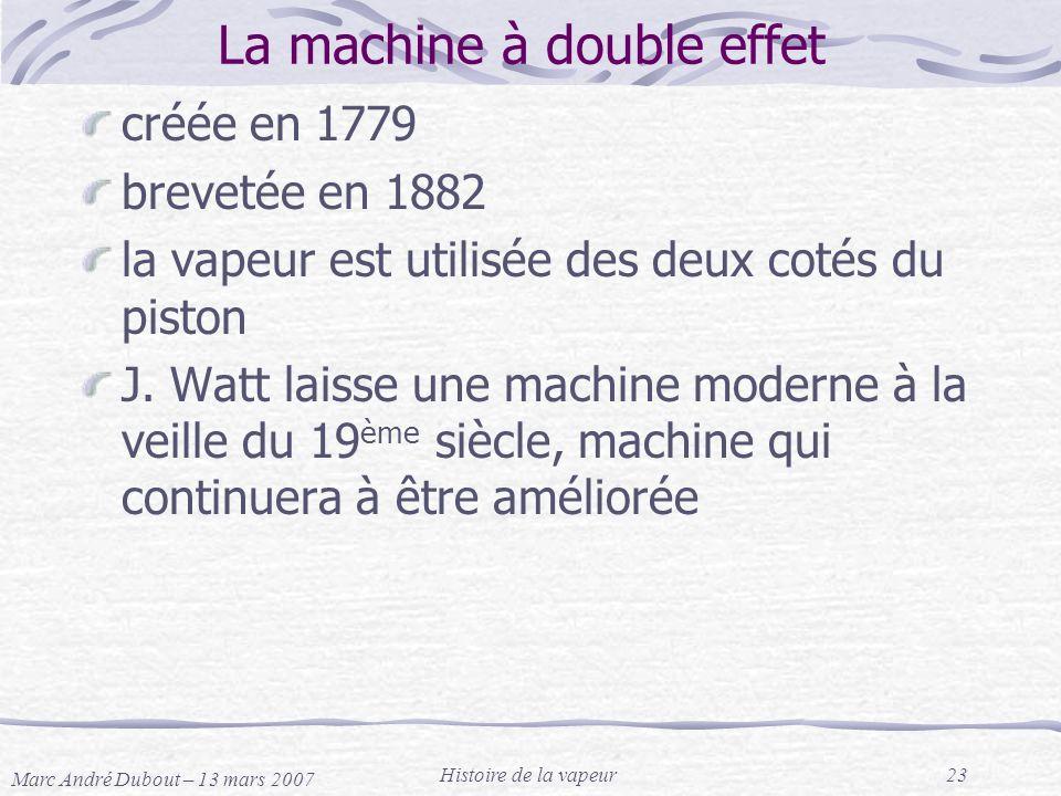 La machine à double effet