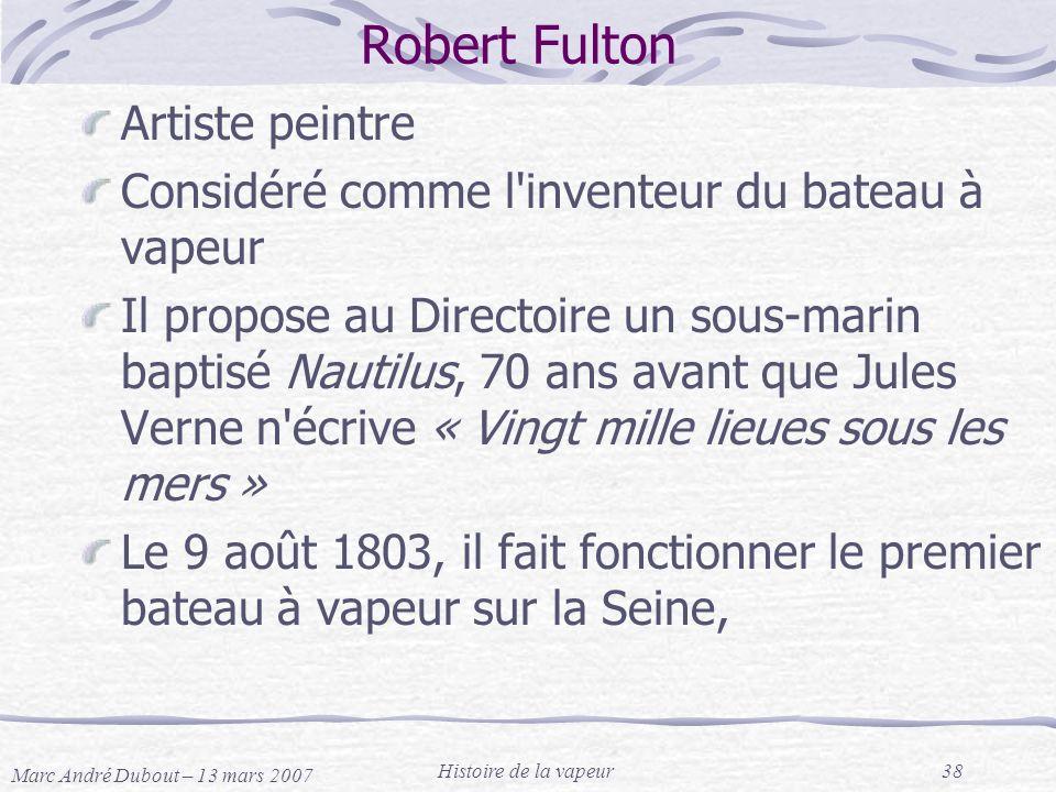 Robert Fulton Artiste peintre
