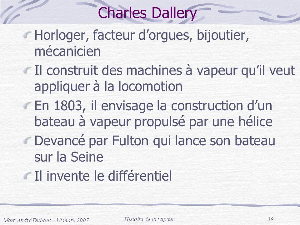 Charles Dallery Horloger, facteur d'orgues, bijoutier, mécanicien
