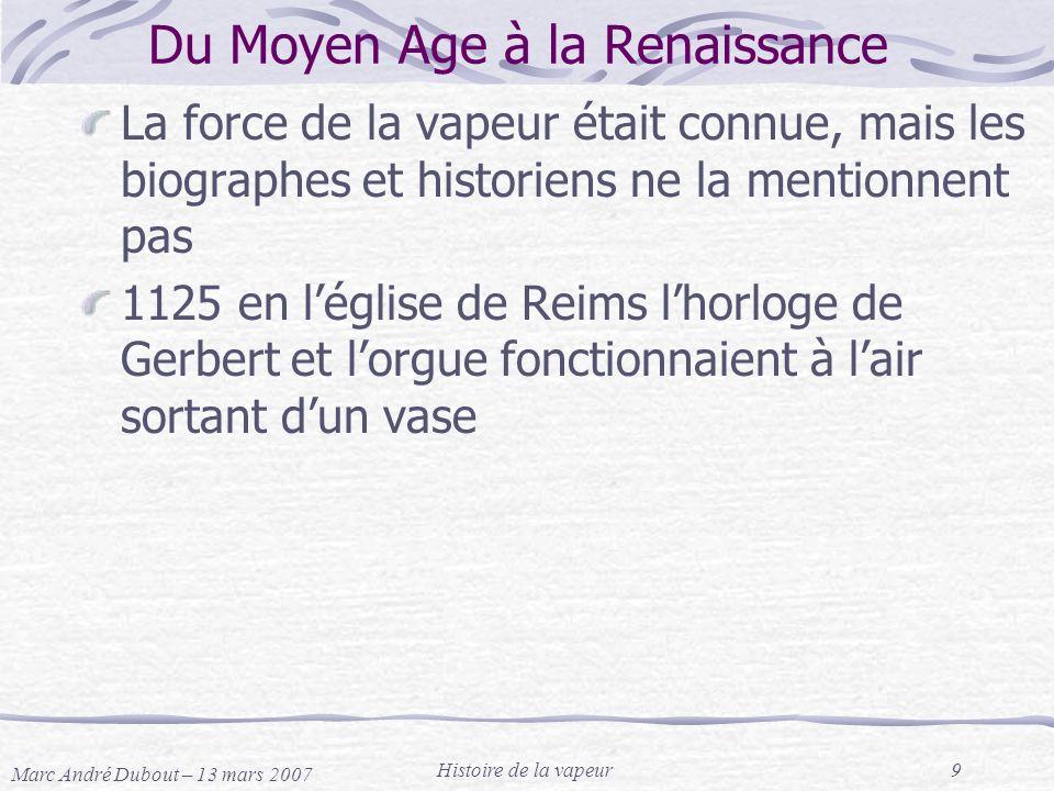 Du Moyen Age à la Renaissance