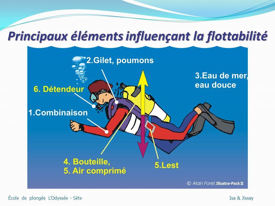Principaux éléments influençant la flottabilité