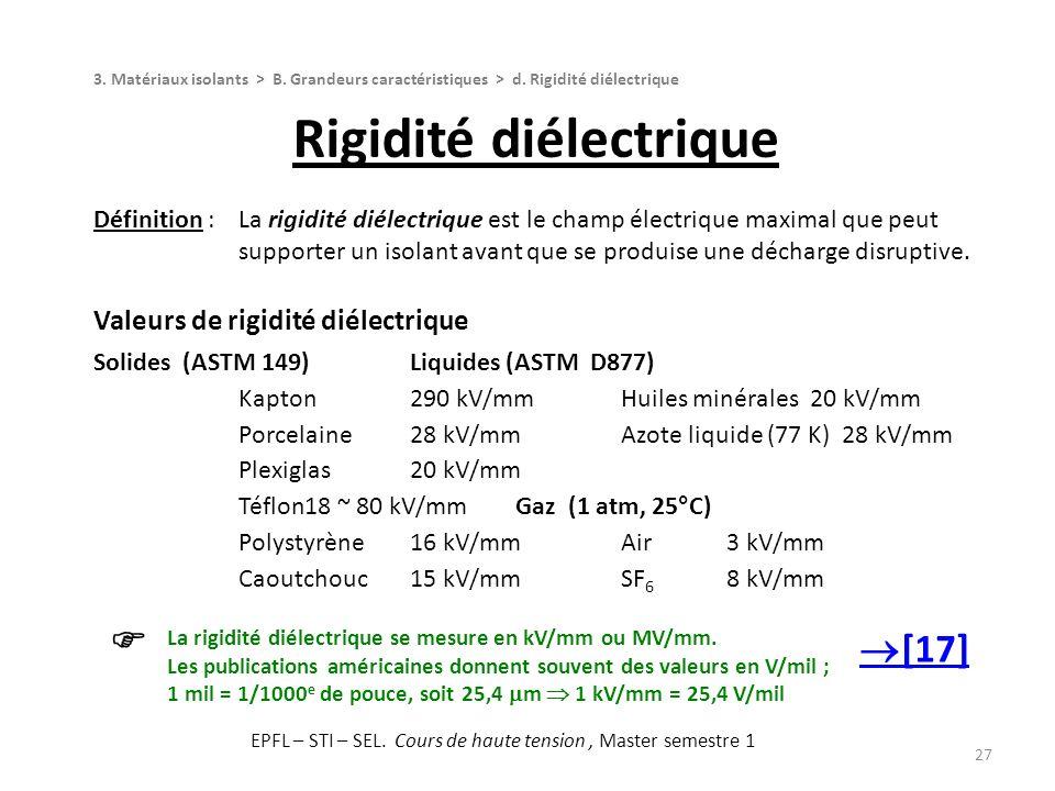 Rigidité diélectrique